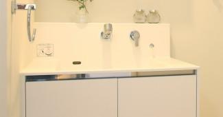 洗面台の水垢を掃除