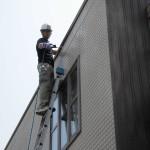 外壁の洗浄です。(東京都)