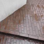 床レンガブロック高圧洗浄です。(横浜市)