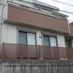 木製外構フェンス塗装工事です。(横浜市)