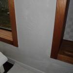 漆喰壁のカビ取りです。(横浜市)