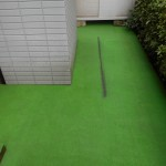 人工芝床の洗浄です。(東京都)